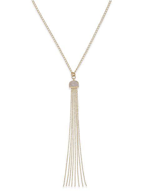 Macy's Diamond Tassel Necklace (1/2 ct. t.w.) in 14k Gold over Sterling Silver