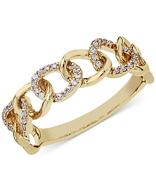 Diamond Link Band (1/8 ct. t.w.) in 14k Gold or White Gold