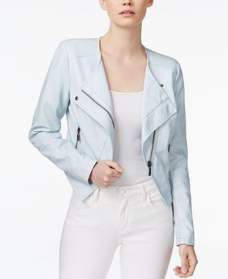Bar III Asymmetrical Faux-Leather Moto Jacket, Created for Macy's