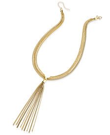 Thalia Sodi Gold-Tone Multi-Chain Tassel Statement Necklace, Created for Macy's