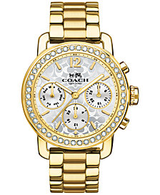 COACH WOMEN'S CHRONOGRAPH LEGACY SPORT GOLD-TONE STAINLESS STEEL BRACELET WATCH 36MM 14502370