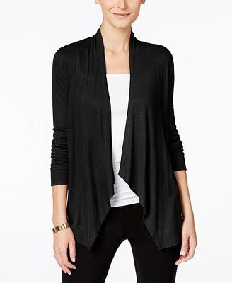 INC International Concepts Draped Cardigan, Created for Macy's ...