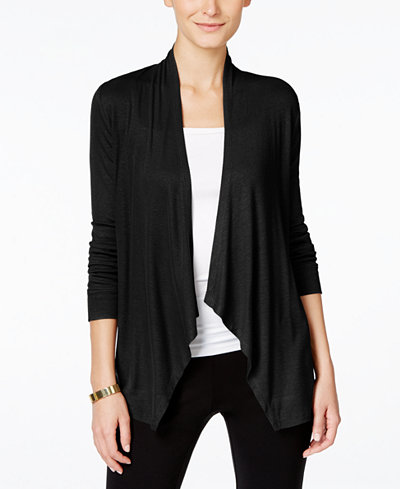 INC International Concepts Petite Open-Front Cardigan, Created for ...
