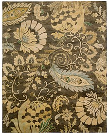 CLOSEOUT! Rajah Paisley Floral Moss Area Rugs