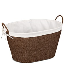 Paper Rope Lined Laundry Basket