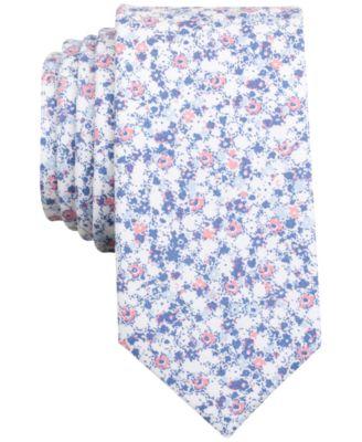Bar Iii Men S Dandy Fl Print Skinny Tie Created For Macy Ties Pocket Squares