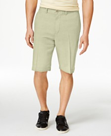 "Tommy Bahama Men's Havana Herringbone 10.5"" Shorts, Created for Macy's"