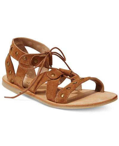 Diba True Train Stop Lace Up Gladiator Sandals Sandals