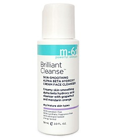 m-61 by Bluemercury Brilliant Cleanse - Travel Size Skin-Smoothing Alpha Beta Hydroxy Cream Face Cleanser, 2 oz