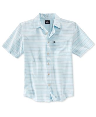 Image of Quiksilver Men's Seajam Stripe Short-Sleeve Shirt