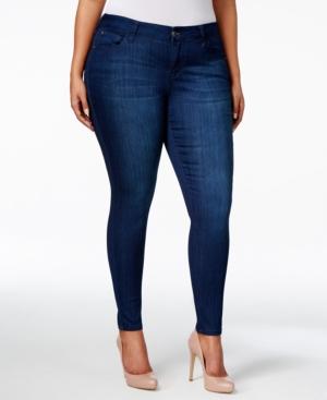 Trendy Plus Size Mid Rise Infinite Stretch Dawson Super-Skinny Jeans
