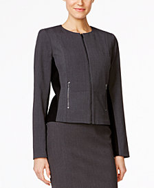 Calvin Klein Fit Solutions Zip-Front Side-Panel Jacket
