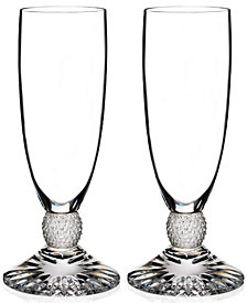 Waterford Town & Country Collection Riverside Drive Flutes, Set of 2