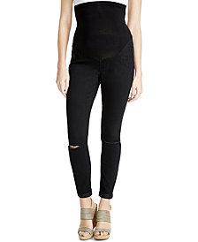 Jessica Simpson Distressed Maternity Skinny Jeans, Black Wash