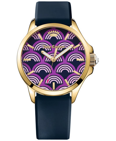 Juicy Couture Women's Jetsetter Regal Blue Silicone Strap Watch 38mm 1901389