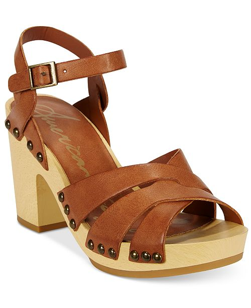 American Rag Cassidy Wooden Platform Sandals, Created for Macy's