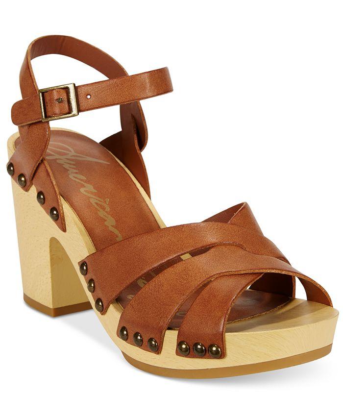 American Rag - Cassidy Wooden Platform Sandals