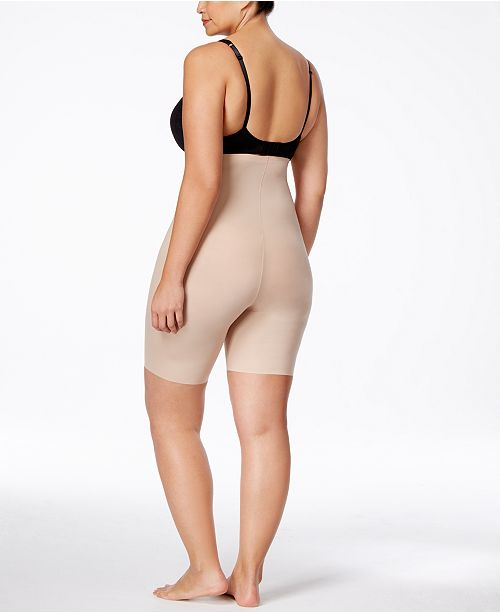 52af80414e437 SPANX Women s Thinstincts Plus Size Thinstincts High-Waisted Mid-Thigh Short  10006P ...