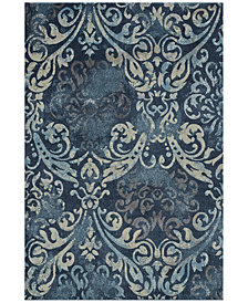 Dalyn Mosaic Filigree Navy Area Rugs