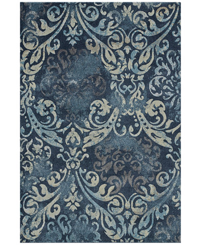 Dalyn Mosaic Filigree Navy 3'3