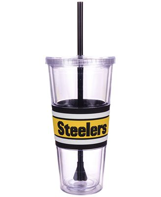 Boelter Brands Pittsburgh Steelers 22 oz. Hyped Straw Tumbler