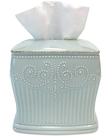 Lenox French Perle Groove Tissue Holder