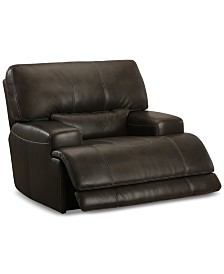 Warrin Leather Power Glider Recliner Created For Macys