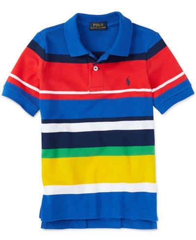 Ralph lauren little boys 39 striped colorblocked polo shirt for Boys striped polo shirts