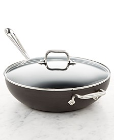"All-Clad Hard Anodized 12"" Chefs Pan with Lid"