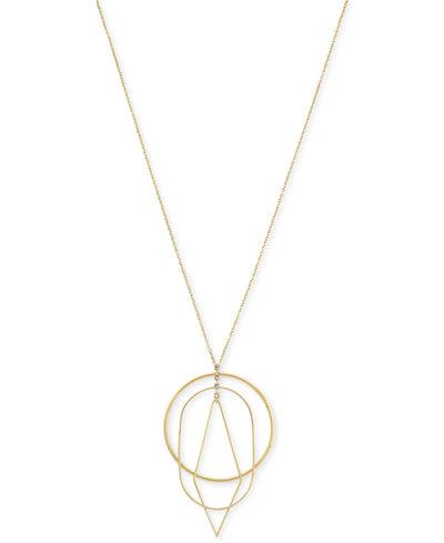 Vince Camuto Gold-Tone Multi-Shape Long Pendant Necklace