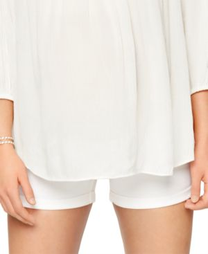 Image of A Pea In The Pod Maternity Cuffed Shorts