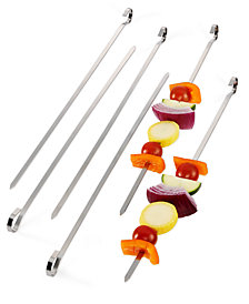 Martha Stewart Collection Stainless Steel 6-Pc. Skewer Set, Created for Macy's