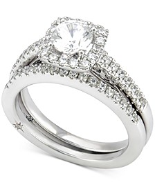 Certified Diamond Bridal Set (1-1/4 ct. t.w.) in 18k White Gold, Created for Macy's