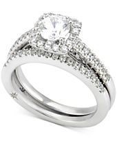 Marchesa Certified Diamond Bridal Set (1-1/4 ct. t.w.) in 18k White Gold