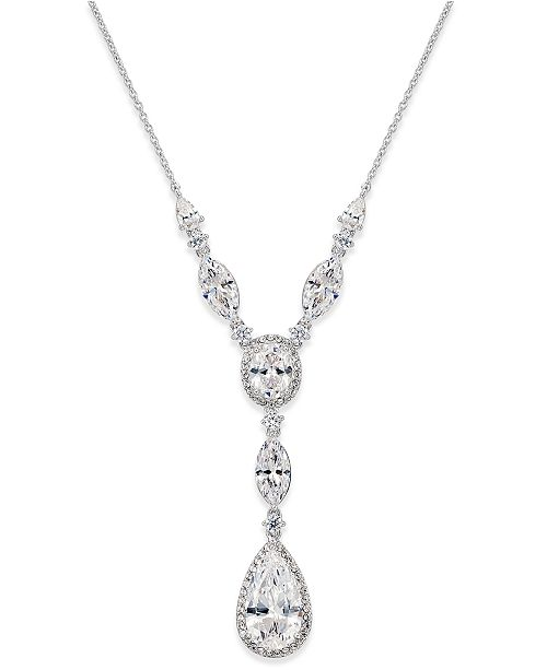 Danori Crystal Y-Neck Necklace, Created for Macy's