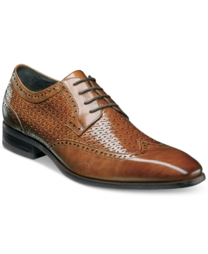 1930s Style Mens Shoes Stacy Adams Mens Melville Wingtip Textured Oxfords Mens Shoes $79.99 AT vintagedancer.com