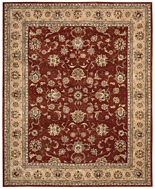 "Nourison Wool & Silk 2000 2203 Brick 8'6"" x 11'6"" Area Rug"