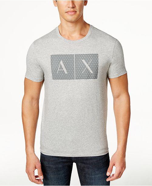 A X Armani Exchange Armani Exchange Men's Triangulation Graphic-Print Logo T-Shirt