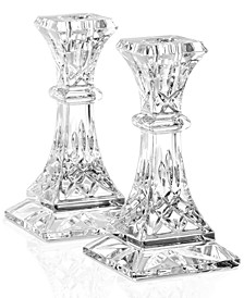 "Gifts, Lismore Candle Holders 6"" Pair"