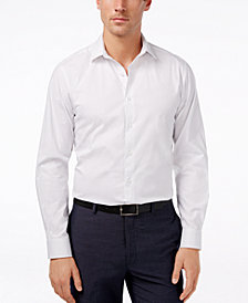 Alfani Regular-Fit Stretch Dot Print Dress Shirt, Created for Macy's
