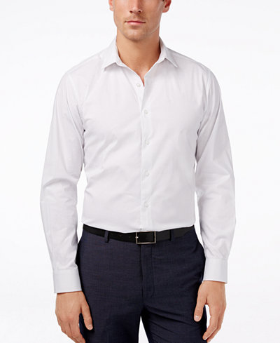 Alfani Regular-Fit Stretch Dot Print Dress Shirt, Created for Macy's