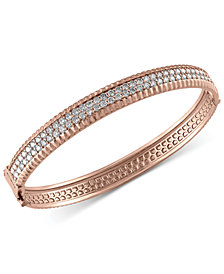 Trio By EFFY Diamond Bangle Bracelet (2-1/6 ct. t.w.) in 14k White, Yellow and Rose Gold