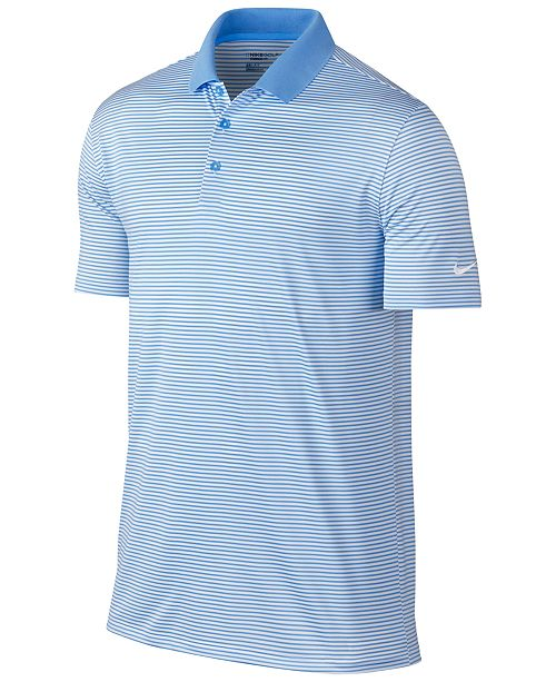 f713ba77 Nike Men's Victory Mini Stripe Dri-FIT Stretch Polo Shirt & Reviews ...