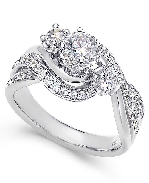 Macy's Diamond Engagement Ring (1 ct. t.w.) in 14k White or Yellow Gold