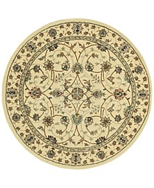 Wool and Silk 2000 2023 Ivory 6' Round Rug