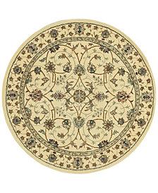 Nourison Round Area Rug, Wool & Silk 2000 2023 Ivory 8'