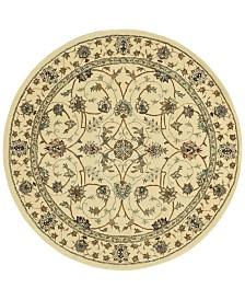 Nourison Round Area Rug, Wool & Silk 2000 2023 Ivory 4'