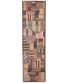 "CLOSEOUT! Nourison Area Rug, Somerset ST22 Clarkstown Multi 2' 3"" x 8' Runner Rug"