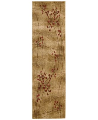 "CLOSEOUT! Area Rug, Somerset Collection ST74 Latte Blossom 2' x 5'9"" Runner Rug"