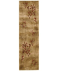 "CLOSEOUT! Area Rug, Somerset Collection ST74 Latte Blossom 2'3"" x 8' Runner Rug"